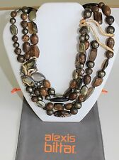 ALEXIS BITTAR Dark Phoenix Smoky Gold Tressage Necklace NWT $645