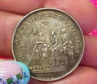 1863 King of Saxony  John German: Johann Silver Rare medal