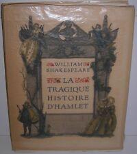 ILLUSTRE. SHAKESPEARE LA TRAGIQUE HISTOIRE D'HAMLET ILL JULLIAN. SCHMIED BLAIZOT