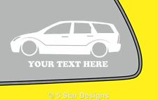 2x LOW YOUR TEXT Slammed d mk1 focus TDCi estate sticker decal 4