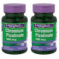 Ultra Chromium Picolinate 1000 mcg 2X180 Tabs Piping Rock