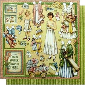 Graphic 45 Penny's Paper Doll Family 12 x 12 Mothers Daughters Cardstock
