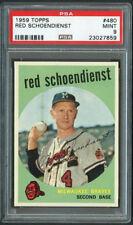 1959 Topps Red Schoendienst #480 HOF- PSA 9-High End 1 Graded Higher