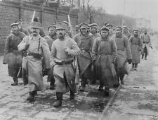 Russian prisoners being marched Skierniewice Poland 1914 World War I 8x10 Photo