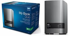 WD 4TB My Book Duo Desktop RAID External HD USB 3.0 WDBLWE0040JCH WDBFBE0040JBK