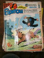 Spirou N° 2203 1980 BD Boulouloum Guiliguili Jeu numérologie Poster Barbe Noire