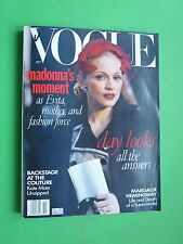 VOGUE US October 1996 Madonna Ciccone Kate Moss Margaux Hemingway Naomi Campbell