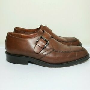 COLE HAAN City Monk Strap Leather Loafers 10D 10 D Mens