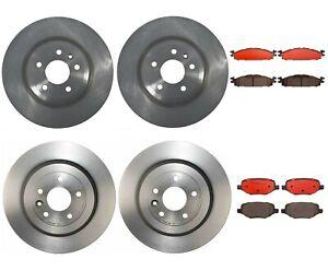 Brembo Front Rear Brake Kit Disc Rotors Ceramic Pads For Ford Explorer Flex