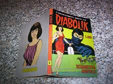 DIABOLIK ANNO VI (SESTO) ORIGINALE N.8 DEL 1967 OTTIMO TIPO KRIMINAL SATANIK