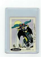 Sunbeam Bread DC Super Heroes Sticker Card #13 Dick Giordano Signed Batgirl