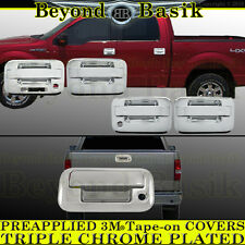 2004-2014 FORD F150 Chrome Door Handle (W/Keypad W/PSK 4Door)+Tailgate COVERS