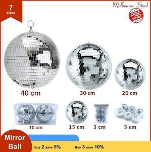 3/5/15/20/30/40 cm Mirror Balls Glass Disco Reflective Ball DJ Dance Event Party