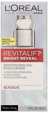 L'Oreal Revitalift Bright Reveal Brightening Day Moisturizer SPF 30 Exp:01/21+