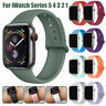 For Apple Watch Series 5 4 3 2 Sports Silicone Band Strap Bracelet 38 42 40 44mm