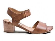 Steve Madden Fedora Sandal Block Heel Mid Strappy Cognac Tan Brown 40 9 9.5 10