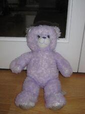 "Construir un oso la risa 16"" púrpura brillante Osito Peluche Juguete Suave Sonido wv"