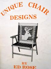Unique lawn chair designs: macrame patterns indian chief; buck; bigmouth bass +