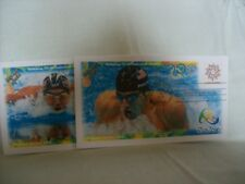 Michael Phelps first day cover from 2016, Rio 2016 2 Covers