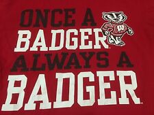Once A Badger Always University Of Wisconsin Medium Red T Shirt