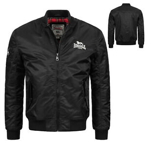 Lonsdale Flight Bomber MA1 Jacket Black + Tartan Slim-Fit Bomberjacke Tern Hill