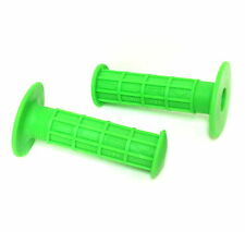 LIME GREEN OURY BMX BICYCLE BIKE GRIPS PAIR LIME GREEN FULL WAFFLE STYLE NEW