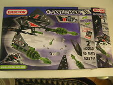 Erector Space Chaos Dark Pirates 2 Models 50+ Parts 1 Trading Card Ages 7-14~Nip