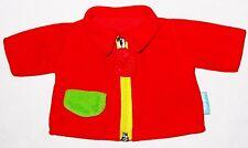 "Parents Red Green 6 1/2"" Yellow Zipper Coat Jacket Doll Clothes"