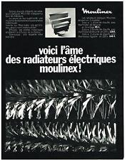 PUBLICITE  1969   MOULINEX  radiateurs éléctriques