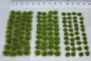 Mixed size static Grass tufts - Self Adhesive basing wargame miniature model oo