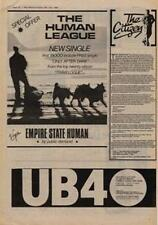 Human League Empire State Human UB40 My Way Of Thinking Advert NME Cutting 1980