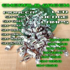 (4) EMERALD GREEN 8V LED WEDGE LAMP SX 780 750 850 950 1050 SX1250 Receiver