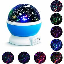 Night Light Star Moon Projector 360° Rotating LED Lamp Romantic Cosmos Kids Gift
