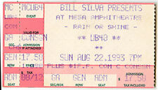 Ub40 Concert Ticket Aug 22, 1993 Arizona Promises And Lies Tour