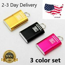 Set Of 3 High Speed Mini USB 2.0 Micro SD TF T-Flash Memory Card Reader Adapter
