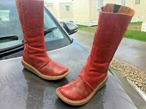 Dr Martens 10491 New Auth red leather boots UK 4 EU 37
