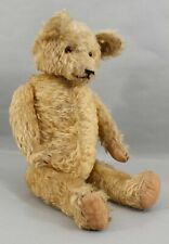 Large 23in Tall Antique Early 20thC Jointed Long Mohair Humpback Teddy Bear Nr