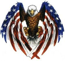 EAGLE WITH AMERICAN FLAG DECAL/STICKER