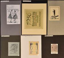EX43776 EX Libris GERMAN ARTISTS mixed thematics & techniques fine