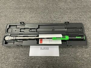 """Snap-on Tools GREEN 1/2"""" Drive 15-300ft/lb Flex Head Torque Wrench ATECH3F300GB"""