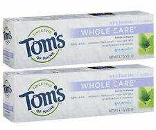 Tom's of Maine Whole Care Fluoride Toothpaste Natural Toothpaste Whitening To...