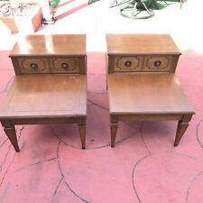 Mersman Vintage Mid Century Wood End Side Tables Furniture News Paper Table