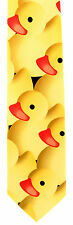 Yellow Rubber Ducky Mens Neck Tie Novelty Duck Animal Bird Yellow Necktie