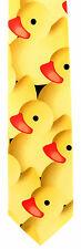 Yellow Rubber Ducky Mens Neck Tie Novelty Necktie Duck Dress  Animal Bird New
