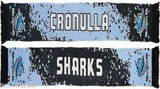 NRL Cronulla Sharks Splash Design Jacquard Supporter Scarf