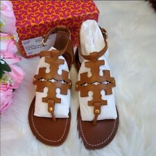 Tory Burch Phoebe or Weston Flat Thong Sandals-Royal Tan