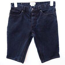 "Fantastic TOPMAN Men's Black Denim Skinny Stonewash Shorts size 30"" Waist"