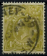 Australia 1931-6 SG#129, 4d Amarillo-Verde KGV utilizado #D48518