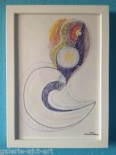 Raymond TRAMEAU Dessin Organique Abstrait Encadré 1960 Pablo PICASSO Abstract