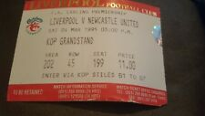 04/03/1995 football ticket liverpool v newcastle united league club